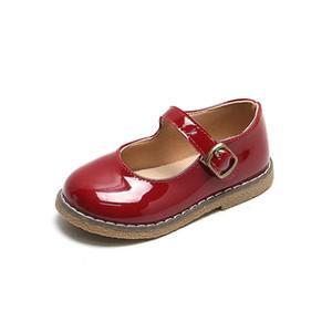 Skhek 2021 primavera nova meninas sapatos de couro cor sólida bowtie bebê menina sapatos liso toddler sneakers crianças meninos smg145