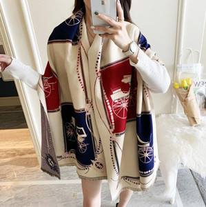2021 new Winter Scarf Women Cashmere Scarf New Fashion Warm Foulard Lady Horse Scarves Color Matching Thick Soft Shawls Wraps