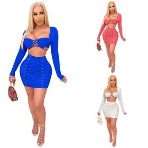 5oove Kadınlar Renk Gelin Elbise Mahsul Pie La Doğal Anne Twodress Moda Uzun Seksi Kollu İpli İki Üst Mini Elbise Kadınlar