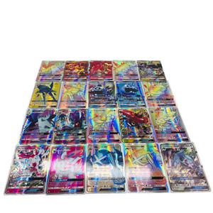 Yeni Sıcak 200 ADET GX Mega Parlatıcı İngilizce XY 30 60 70 100 120 GX Kartları 30 60 Mega Ex Kartları GX Kartları Yok Yenek Çocuk Oyuncakları DHL