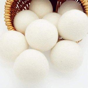6CM الصوف الجاف الكرة بريميوم قابلة لإعادة الاستخدام النسيج الطبيعي كرات شعر تقليل ثابت يساعد على الملابس الجافة في الغسيل أسرع الغسيل الكرة EWD2467