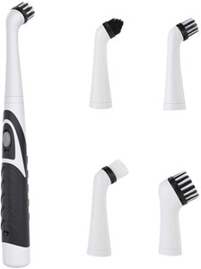 Electric Cleaning Brush Oscillating Cleaning Tool, Super Power Sonic Cleaning Scrubber Cordless with 4 Heads for Bathroom Kitchen Tile Floor