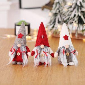 crianças Floresta do Natal velho sem rosto boneca de Papai Noel Cartoon Doll Xmas No Face Dolls decoração da janela Xmas presente T9I00704