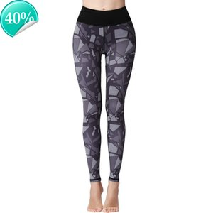 Pantaloni per le donne Sport Yoga Stampato Mid Thigh Thigh Stretch Cotton Banch High Vita Lunga Attiva Leggings @ 40 J0O8