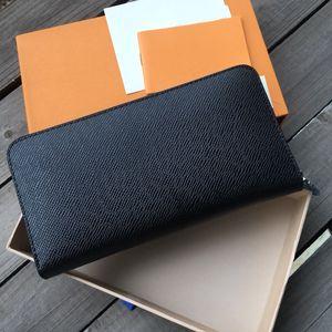 Mulher moda feminina bolsa carteira senhoras único zíper homens mulheres carteira de couro da senhora longa bolsa com cartão de caixa de laranja 60017 LB82 frete grátis