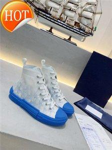 2021 Nouveau B23 haut-top sneakers Oblique Mode Hommes 19SS Souliers simples Fleurs lettres transparentes femmes Haut-top Chaussures Nous 5-11