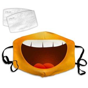 Cartoons Big Smile Tooth 3D Printing Custom Fashion Comfortable Adjustable Facial Decorations Unisex