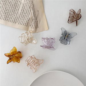 30PCS 6 Colors Mini Butterfly Hair Claw Crab Clips Headwear,1PC Korean style Women Girls Fashion Transparent Butterfly Hair Claw