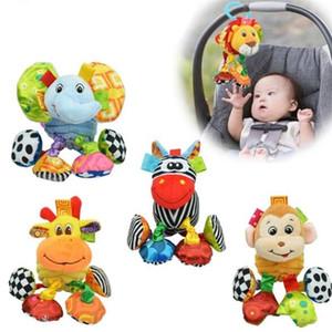 Bebê Plush Toy Mobiles Lion elefante Zebra vibratório animal Super Soft Comfort recém-nascidos presente 0 a 12 meses grátis SZ12 C1016