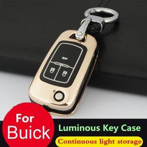 Car Key copertura per Buick Chevrolet Cruze Opel Vauxhall Mokka Encore vibrazione auto Caso chiave Shell in pelle con catena in lega