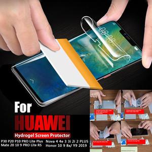 Para a cobertura completa Huawei P30 P20 P10 Pro Lite Mate20 30 10 Pro Nova3 Nova4 hidrogel macia Film protetor de tela