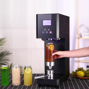 High quality commercial can sealing machine 55mm coffee tea can sealing machine aluminum beverage bottle sealing machine