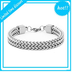 Mens Stainless Steel Chain for Men Hip Hop 5mm 10mm Bangle Vintage Fashion Jewelry Cuban Link Bracelet Male Pulseira