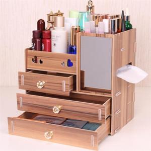 Urijk DIY Wooden Storage Box Makeup Organizer Jewelry Container Wood Drawer Organizer Handmade Cosmetic Storage Box1