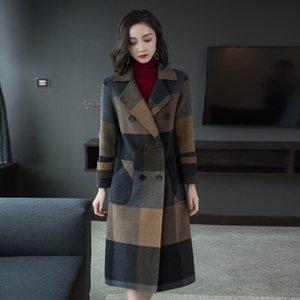 WYWAN 2020 Yeni Uzun Ceket Kalite Coats Moda Günlük Giyim Marka Kadın Coat Q1107