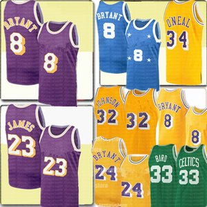 Retro NCAA BRYANT Earvin 32 Johnson Jersey 23 James Shaquille O'Neal 34 Larry 33 Vogel Trikots Universität Basketball-Trikots