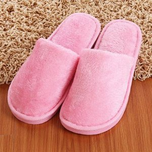 Soft Plush Cotton Cute Slippers Shoes Couple Unisex Non-Slip Floor Indoor Home Furry Slippers Women Shoes For Bedroom