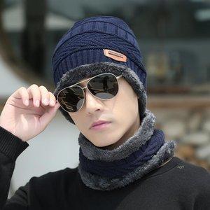Bonnets 2021 Automne et hiver Capuchers à col chaud Casquettes Hommes Plus Velvet épaississant chapeau de chapeau de chapeau de chapeau de collier en deux pièces