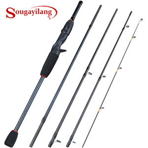 Sougayilang 1.8-2.4M Lure Fishing Rod 5 Section Ultralight Weight Spinning  Casting Fishing Rod for Travel Fishing Tackle Pesca 201022