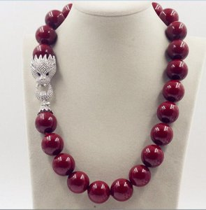 Beautiful NEW Huge 20mm Genuine Red Shell Pearl Necklace 18