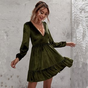 OsNM 2019 Women039;s Clothes A8103 Newspaper Son Printing Slim Dress
