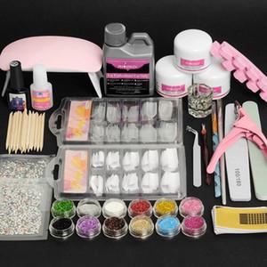 Kit per unghie Kit acrilico Kit Kit Gel e Acrilico Set completo Semi Semi permanente in polvere Set di manicure piena manicure