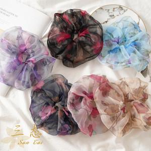 Аксессуары для волос Весна и летний стиль Большие тонкие эластичные полосы женские женские цыплят цветочные
