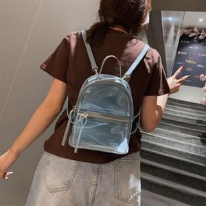 2021 Nouveau sac à dos transparent Femme Casual Mode Haute Qualité Femmes Sac à dos Sac à dos claire pour adolescentes Sac de voyage en PVC