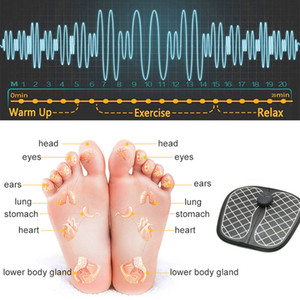QualityEMS Electric Foot Massager Cushion Feet Muscle Stimulator Foot Massage Mat Improve Blood Circulation Relieve Pain Health Care