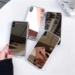 2020 new For iPhone 11 Pro Max XR XS 8 7 Plus Samsung S20 Ultra Note 10 Plus mirror glass mobile phone shell mirror makeup makeup case