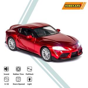 HBEKAARS 1:32 Diecast Model Araba Araçlar GR Supra Alaşım Simülasyon Spor Araba Oyuncaklar Çocuklar için Boys Hediyeler Koleksiyonu X0102