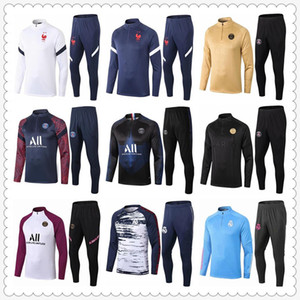 tuta real madrid psg jordan france tracksuit mens designer tracksuits 2020 2021 football tracksuit soccer tracksuit player version