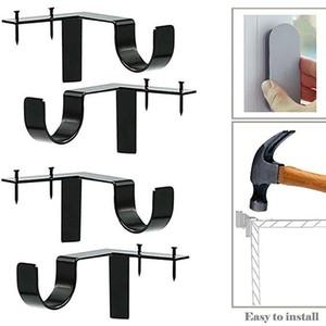 Curtain Pole Bracket Creative Curtain Pole Roman Pole Bracket Universal Accessories Hook