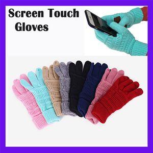 Hotsale !! Guanti invernali maglia unisex Touch Screen Gloves schermo Inverno Cc Knitting Smart Touch del cellulare touch Cinque Dita Guanti DHL