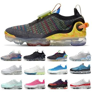 nike air vapormax 2020 fly summit white knit 20 uomini donne scarpe da corsa platino puro iron grey deep royal blue dark 360 mens formatori sneakers sportive