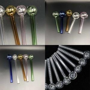 Прочная травяная нефтяная горелка для горелки Multi цветов прозрачных труб кальянов Shisha Water Bongs Pyrex стекло курительные трубы в наличии 1 8PS E19