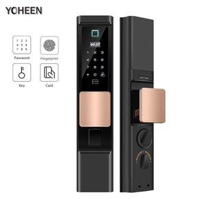YOHEEN de huellas dactilares bloqueo inteligente Cerraduras Para el hogar automático Elecrtonic de bloqueo de seguridad de puerta biométrica 201013
