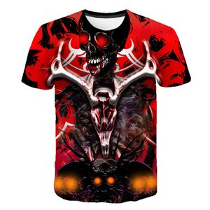 2020 people 3D T-shirt has been digital printed punk head T-shirt short sleeve foreign chart things t-t-shirt printed high