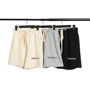 Hiphop Fashion Mens Fog Essential 3M Reflective Shorts Elastic Waist Drawstring Knee Length Pants