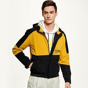 Giacca Patch design con cappuccio da uomo Streetwear Windbreaker autunno merci Bomber resistenza al vento casual cappotto Abbigliamento maschile