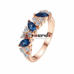 Yoursfs Fashion Gold Plated 18K Women's Zircon Crystal Ring Anniversary Christmas Gift