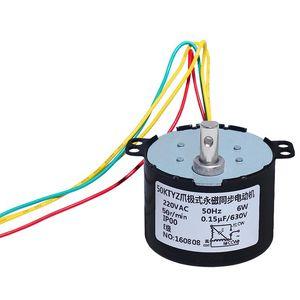 50KTYZ 영구 자석 동기 모터 220V AC 모터 양성 및 음수 제어 가능한 저속 마이크로