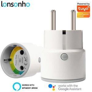Lonsonho Tuya Smart Plug WiFi Smart Socket Mini Type F EU Plug 10A / 16A أتمتة المنزل يعمل مع Google Home Alexa1