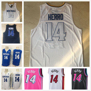 NCAA Whitnall High School College Баскетбол сшитые трикотажные изделия 14 Tyler Herro Vintage Jersey Kentucky Wildcats Mens S-XXL
