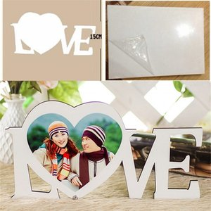 Sublimation Blank Pictures LOVE Heart Wooden Painting Board HDF Ornament Stands Bed Room Heat Resistant Solid Colour 10 93xm L2