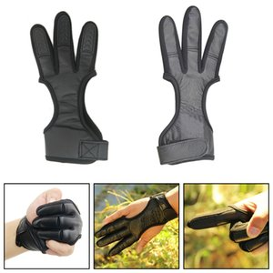Areyourshop Hunting 3 Finger Archery Protector Tab Guard Glove Gear Leather Traditional Bow Hunting Accessories Parts