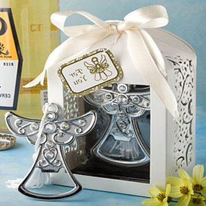 10pcs lot Wedding Souvenir Angel Bottle Opener Party Small Gift With Box For Wedding Decorations Accessories