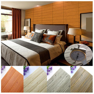 3D Wall Sticker Foam Wood Panels Decoration Self-adhesive Wooden Wallpaper for Living Room Home Bedroom House Kid Children Decor