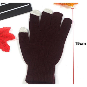 High Quality Men Women Touch Screen Gloves Winter Warm Mittens Female Winter Full Finger Stretch Comfortable Breathabl wmtBNC item_home