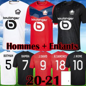 2020 2021 Losc Lille Soccer Jerseys Fonte Bamba Yazici J David Football Shirt 19 20 21 Lille Olympique Jikone 10 Adult Child Kit